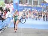 Brittany Dutton of Australia competes in the Women's Triathlon during day one of the Nanjing 2014 Summer Youth Olympic Games at Xuanwu Lake Triathlon Venue on August 17, 2014 in Nanjing, China.  (Photo by ChinaFotoPress/ChinaFotoPress via Getty Images)