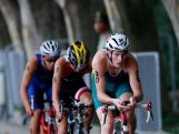 Stekelenburg Van of Australia competes in the cycling stage during the Men's Triathlon on day two of Nanjing 2014 Summer Youth Olympic Games at Xuanwu Lake Triathlon venue on August 18, 2014 in Nanjing, China.