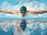 Nicholas Brown of Australia competes in the Men's 100m Butterfly Semifinal on day two of Nanjing 2014 Summer Youth Olympic Games at Nanjing OSC Natatorium on August 18, 2014 in Nanjing, China.