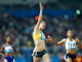 NANJING, CHINA - AUGUST 23: Jessica Thornton of Australia celebrates after the Women's 400m Final of Nanjing 2014 Summer Youth Olympic Games at the Nanjing Olympic Sports Centre on August 23, 2014 in Nanjing, China. (Photo by Lintao Zhang/Getty Images)