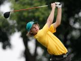 Brett Coletta of Australia plays a shot during the Mixed Team on day ten of the Nanjing 2014 Summer Youth Olympic Games at at Zhongshan International Golf Club on August 26, 2014 in Nanjing, China.