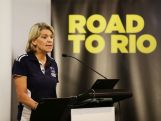 SYDNEY, AUSTRALIA - NOVEMBER 20: Rio 2016 Australian Olympic Team Chef de Mission Kitty Chiller speaks during an Australian Olympic Committee 'Ignite' Session ahead of the 2016 Rio Olympic Games, on November 20, 2014 in Sydney, Australia. (Photo by Matt King/Getty Images)