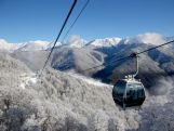 A view from of Rosa Khutor Mountain Cluster ahead of the Sochi 2014 Winter Olympics on February 1, 2014 in Sochi, Russia