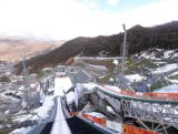 A general view from the normal hill of the RusSki Gorki Ski Jumping venue ahead of the Sochi 2014 Winter Olympics on February 1, 2014 in Sochi, .