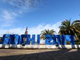 A Sochi 2014 sign is seen on display in downtown Sochi prior to the Sochi 2014 Winter Olympics on February 1, 2014 in Sochi, Russia.