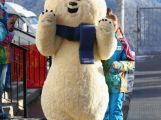 One of the Sochi 2014 mascots is seen in the Athletes Village ahead of the Sochi 2014 Winter Olympics on February 2, 2014 in Rosa Khutor, Sochi.