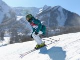 Anna Segal of Australia trains during Ski Slopestyle practice at the Extreme Park at Rosa Khutor Mountain ahead of the Sochi 2014 Winter Olympics on February 3, 2014 in Sochi, Russia.