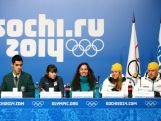 Australian athletes, Pierre Boda, Deanna Lockett, Hannah Trigger, Esther Bottomley and Phil Bellingham attend a press conference after the Australian Olympic Team Uniform launch ahead of the Sochi 2014 Winter Olympics at the Main Press Center (MPC) at the Olympic Park on February 5, 2014 in Sochi, Russia.