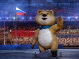Olympic mascots the Polar Bear waves during the Opening Ceremony of the Sochi 2014 Winter Olympics at Fisht Olympic Stadium on February 7, 2014 in Sochi, Russia.