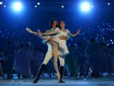 Dancers Danila Korsuntsev and Svetlana Zakharova perform during the Opening Ceremony of the Sochi 2014 Winter Olympics at Fisht Olympic Stadium
