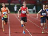 Alex Beck, Craig Burns and Luke Stevens run in the Mens 400m Opem Semis during the Australian Athletics Championships at the Queensland Sports and Athletics Centre on March 27, 2015 in Brisbane, Australia. Burens won the final the following day.