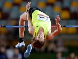 Brandon Starc competes in the Men's High Jump event during the Australian Athletics Championships at the Queensland Sports and Athletics Centre on March 28, 2015 in Brisbane, Australia.