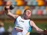 Damien Birkinhead throws in the Mens Shopt Put Final during the Australian Athletics Championships at the Queensland Sports and Athletics Centre on March 29, 2015 in Brisbane, Australia.