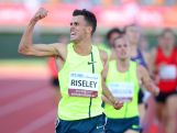 Jeffery Riseley celebrates winning the 1500m Final during the Australian Athletics Championships at the Queensland Sports and Athletics Centre on March 29, 2015 in Brisbane, Australia.