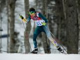 Callum Watson competes in the Men's Skiathlon 15 km Classic + 15 km Free during day two of the Sochi 2014 Winter Olympics at Laura Cross-country Ski & Biathlon Centre.