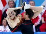 Tessa Virtue and Scott Moir of Canada competes in the Team Ice Dance Free Dance during day two of the Sochi 2014 Winter Olympics.