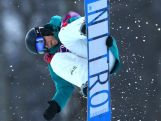 Nathan Johnstone competes in the Snowboard Men's Halfpipe Qualification Heats on day four of the Sochi 2014 Winter Olympics at Rosa Khutor Extreme Park.