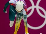 Lucy Chaffer of Australia makes a run during the Women's Skeleton heats on Day 6 of the Sochi 2014 Winter Olympics at Sliding Center Sanki on February 13, 2014 in Sochi, Russia.