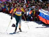 Aimee Watson competes in the Women's 10 km Classic during day six of the Sochi 2014 Winter Olympics at Laura Cross-country Ski & Biathlon Centre.