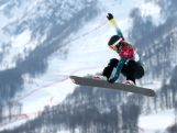 Torah Bright of Australia during the Ladies' Snowboard Cross Seeding on day nine of the Sochi 2014 Winter Olympic.