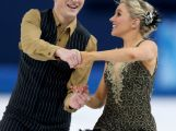 Danielle O'brien and Gregory Merriman  compete during the Figure Skating Ice Dance Short Dance on day 9 of the Sochi 2014 Winter Olympics at Iceberg Skating Palace on February 16, 2014 in Sochi, Russia.