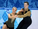 Danielle O'brien and Gregory Merriman  compete during the Figure Skating Ice Dance Short Dance on day 9 of the Sochi 2014 Winter Olympics.
