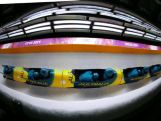Pilot Heath Spence and Duncan Harvey of Australia team 1 during the Men's Two-Man Bobsleigh heats.