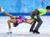 Danielle O'Brien and Gregory Merriman compete in the Figure Skating Ice Dance Free Dance on Day 10 of the Sochi 2014 Winter Olympics.