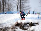 Jenny Owens of Australia jumps during a Ski Cross training session at Rosa Khutor Extreme Park.