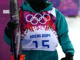 Davina Williams looks on in the Freestyle Skiing Ladies' Ski Halfpipe Qualification on day thirteen of the 2014 Winter Olympics.