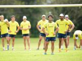 Allan Fa'alava'au looks on during an Australian men's rugby sevens training session at Sydney Academy of Sport on November 9, 2015 in Sydney, Australia.