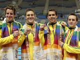 Claiming Silver in Melbourne 2006 and Bronze in Beijing 2008, Australia has broken into the Gold Medal placing with a team consisting of Kyle Richardson, Eamon Sullivan, Tomasso D'Orsogna and James Magnussen. With Eamon being the only one out of the four medalists to have competed in the previous those two medal winning performances, his three young teammates are proving to be developing into a formidable force in time for London 2012. Let's hope their development continues successfully and we can see them atop the podium once more in London.