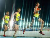 Brett Robinson, David McNeill and Brian Shrader run in the Men's 10,000 Metre Zatopek Open during the Australian All Schools Championships & Zatopek:10 at Lakeside Stadium on December 5, 2015.