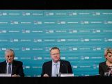 Kerry Stokes, Chairman Seven West Media, John Coates, AOC President & Kitty Chiller, 2016 Australian Olympic Team Chef de Mission during a media conference to mark the Two Years To Go countdown to the 2016 Rio Olympic Games at Museum of Contemporary Art on August 5, 2014 in Sydney, Australia.