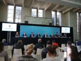 (L-R) Torah Bright, Bruce McAvaney, Tim Worner, Kerry Stokes, John Coates, Kitty Chiller, Liz Cambage, Holly Lincoln-Smith and Alicia Quirk attend a media conference to mark the Two Years To Go countdown to the 2016 Rio Olympic Games at Museum of Contemporary Art on August 5, 2014 in Sydney, Australia.