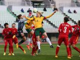 Clare Polkinghorne competes for the ball against Vietnam defense during the AFC Women's Olympic Final Qualification Round match between Australia and Vietnam on March 2, 2016 in Osaka, Japan.