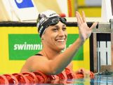 Blair Evans of Australia celebrates winning the Women's 400 Metre Individual Medley during day one of the 2016 Australian Swimming Championships on April 7, 2016 in Adelaide, Australia.