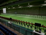 General view of the 25m range at the Olympic Shooting Center in Deodoro Olympic Park on April 19, 2016 in Rio de Janeiro, Brazil.