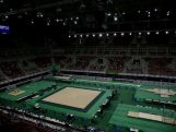 General view of  Rio Olympic Arena during the Final Gymnastics Qualifier - Aquece Rio Test Event for the Rio 2016 Olympics.