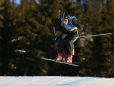Douglas Crawford competes during the Men's Ski Cross small final at the Hafjell Freepark at the Winter Youth Olympic Games, Lillehammer Norway