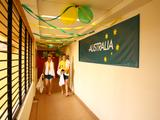 The heavily decorated corridors inside the Australian Team section of the Athlete Village leaves you with no doubt whose country resides within!