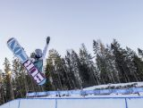 Emily Arthur competes in the Snowboard Halfpipe Finals at Oslo Vinterpark Halfpipe during the Winter Youth Olympic Games, Lillehammer, Norway