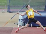 Rhys Stein throws the javelin.