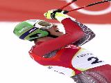 Michaela Dorfmeister of Austria wins the Womens Alpine Skiing Downhill Final on Day 5 of the 2006 Turin Winter Olympic Games on February 15, 2006 in San Sicario Fraiteve, Italy. Schild won the Silver Medal.