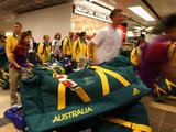 The Australian Youth Olympics Team arrives in Singapore at Changi Airport