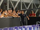 Daniel Arnamnart is cheered on during the announcement of the 2012 Australian Olympic Swim Team at the conclusion of the National Championships in Adelaide on 22 March, 2012. 44 athletes were selected.