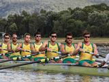 Men's Eight trial at the 2012 National Selection Trials at the Sydney International Regatta Centre in Penrith.