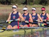 The women's four trial at the 2012 National Selection Trials at the Sydney International Regatta Centre in Penrith.""