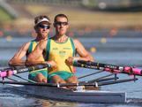 Beijing Gold Medallists Scott Brennan and David Crawshay compete at the 2012 National Selection Trials at the Sydney International Regatta Centre in Penrith