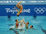 Australia competes in the Team Event Free Routine Synchronised Swimming Final.